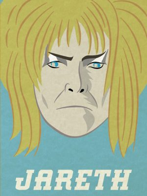 Labyrinth bowie poster illustration